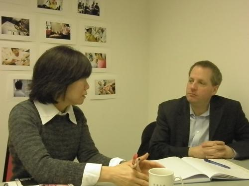 Angus Gray with Lisa Mok from Wai Yin